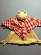 IKEA Fabler Gronda Frog Security Blanket Bandana Lovey Plush EUC