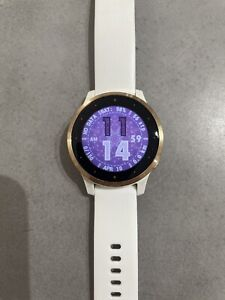 Garmin Vivoactive 4S 40mm Watch - White with Rose Gold