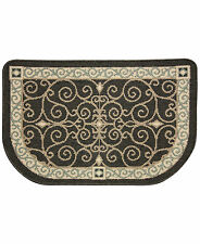 New Bacova Kitchen Rug Reliance Eastly Midnight Non Slip Back Rounded 22 x 35