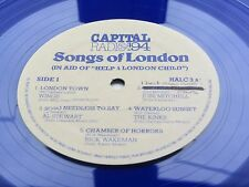 PAUL McCARTNEY  WINGS  THE KINKS  BLUE VINYL  LP SONGS OF LONDON PROMO