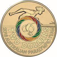2016 Australia $2 Two Dollar Paralympic Team Commemorative Coin UNC