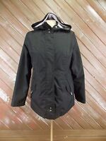 Free Country Radiance Rain Wind Jacket Black w/ Hood Size S Lined
