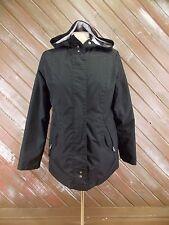 Free Country Radiance Rain Wind Jacket Black w/ Hood Size S Lined