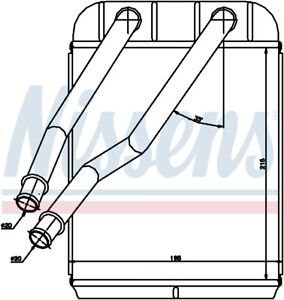 Heater Core  Nissens North America  73975