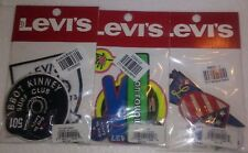 Lot of 3 Levi's Patch and Pin set pack Iron on Sew on Jeans Jacket