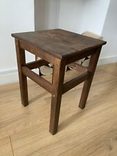 IKEA Oddvar Stool Side Table - Solid Wood Pine - Dark Brown Walnut Stain