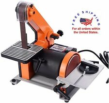Bench Top Disc Belt Sander Combination Shop Miter Bevel Woodworking Polisher NEW