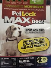 PetLock Max Dogs Medium Dog Flea and Tick Topical, 4 Doses, 4 Month Supply/doses