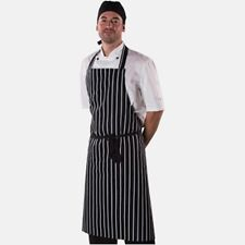 "Dennys printed navy butchers stripe apron Size:28""(71cm) x 38""(95cm) Best Value"