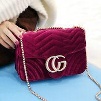 Brand Women Fashion Velvet Shoulder Bag Ladies Quality Crossbody Evening Handbag