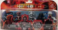 Dr Doctor Who *TIME SQUAD* figures  DALEK BLACK SEC CYBERMAN VASHTA NERADA