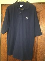 LaCoste Crocodile Logo S/S Polo Shirt Size: 9 Navy Blue C49