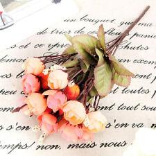 Artificial Rose Silk Flowers 18 Charm Flower Heads Camellia Peony Bouquet Decor