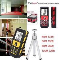 60/80/100M Digital Laser Distance Meter Area Volume Rangefinder Measure+Tripod