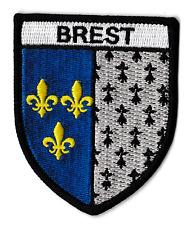 Patche Brest écusson brodé blason patch thermocollant Bretagne Brestois