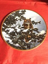 the hamilton collection plate Noble Owls Of America