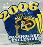 MICKEY MOUSE WDW Annual Pass-holder Exclusive 2006 Dangle / Glitter Disney Pin