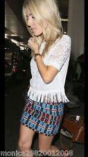 Zara Jacquard con Motivo Minigonna TAGLIA XS EXTRA-SMALL