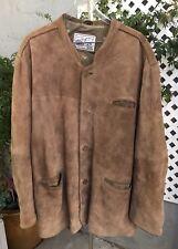 LEKRA COUNTRY LIFE ECHTES LEDER Mens Brown Suede Leather Jacket Coat Sz 68
