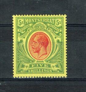 MONTSERRAT - 1914 KGV SG 48 VERY FINE MINT STAMP