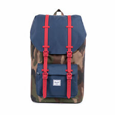 Herschel Supply Co. Little America Backpack in Woodland Camo/Navy/Red Rubber NWT