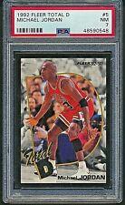 1992 Fleer Total D Michael Jordan Chicago Bulls Insert PSA 7 Near Mint Card #5