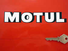 """MOTUL Geformt Text Motor Öl Rennen & Rallye AUFKLEBER 7"""" Paar Motorrad HONDA"""