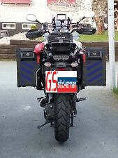 BLUE REFLECTIVE SAFETY CHEVRONS FOR YAMAHA SUPER TENERE XT1200ZE STICKERS