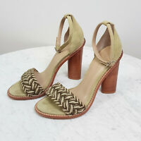CAMILLA AND MARC | Womens Lena Braided Heel Shoes  [ Size EUR 40 ]