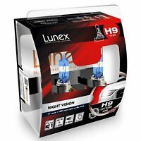 2x Lunex NIGHT VISION H9 Car Headlight Halogen Bulbs 12V 65W PGJ19-5 3600K