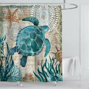 KISSOURBABY Bathroom Shower Curtain Sea Turtle Ocean Creature Landscape...