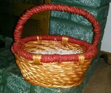 New ListingWoven Christmas Wicker Basket w/ Handle * Home Decor * (Brand New!)