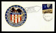 DR WHO 1972 COOK ISLANDS SPACE TRACKING STA APOLLO 16 SPLASHDOWN CACHET  g42372
