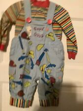 Good Guy Chucky Halloween Dress Up Costume -coveralls.....SIZE 3-6 Months