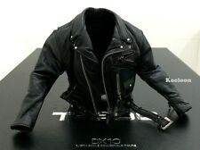 Hot Toys DX10 Terminator 2 T800 Judgement Day 1/6th Arnold Black Leather Jacket
