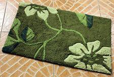 Green New 100% Cotton Absorbent Soft Bathroom Bedroom Floor Shower Mat Bath Rugs