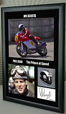 """Phil Read Isle of Man TT Motor Cycle Framed Canvas Signed """"Great Gift"""" #2"""