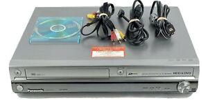 Panasonic DMR EH75V VHS DVR HDD DVD Recorder Player DVD-R No Remote TESTED Works