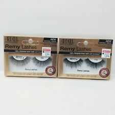 2x NEW Ardell Remy False Eyelashes Lashes Invisiband Keratin Infused 776 Black
