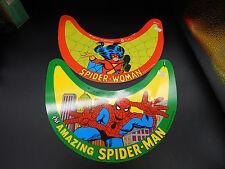 1979 Marvel Comics SPIDER-MAN Spider-Woman party favors hat visors 1979 vintage
