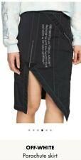 BNNW OFF!White Virgil Abloh Black Parachute Skirt Size12 RRP£535