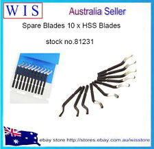 Spare Blades,PK of 10 Bent Swivel Head Deburring Blade Hand Tool,HSS Blade-81231