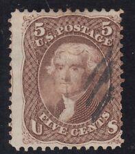 USA Scott #76  5 cent Jefferson brown  F