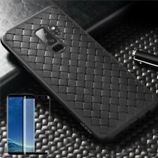 para Samsung Galaxy S9 Plus ORIGINAL ROCK Bolsa de silicona FUNDA NEGRA + 4d