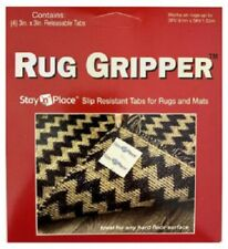 """Optimum, 12 Pack, 3"""" x 3"""", Stay 'N' Place Slip Resistant Tabs For Rugs & Mats"""