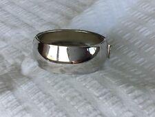 Vintage CORO Pegasus Wide Silver Domed Hinged BANGLE signed 1950's..