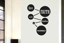 Have Faith And Believe In Yourself Vinilo Pegatinas De Pared Adhesivo Decoración