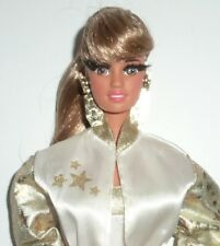 RARE ROOTED VINTAGE 1990 Hollywood Hair Barbie Teresa Doll & Fashion.
