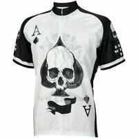 World Jerseys Deal with It Ace of Spades Men's Cycling Jersey: White/Black XL