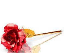 24K Gold Plated Golden Rose Flower Valentine's Day Wedding Birthday Gift (RED)